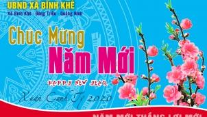 UBND xã Bình Khê chúc mừng năm mới xuân Canh Tý 2020