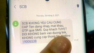 SCB và VIB là những cái tên tiếp theo 'phát lệnh' cảnh báo tin nhắn mạo danh ngân hàng để lừa đảo