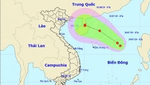 Biển Đông xuất hiện vùng áp thấp nhiệt đới di chuyển theo hướng về biên giới Việt Nam - Trung Quốc