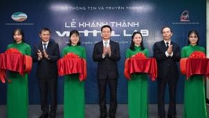 Bộ trưởng Nguyễn Mạnh Hùng: Phòng Lab mạng di động 4G kết nối giữa doanh nghiệp với trường đại học