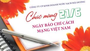 Công ty CP kinh doanh nước sạch Hải Dương Chúc mừng Ngày Báo chí Cách mạng Việt Nam