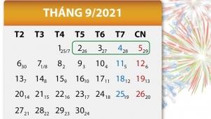 Dịp Lễ Quốc khánh 2021 người lao động sẽ được nghỉ 4 ngày