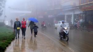 Rét đậm tại Sapa ghi nhận mức giảm nhiệt lớn nhất từ đầu mùa đông