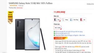 Samsung Note 10 và Note 10 Plus bất ngờ giảm giá gần một nửa so với giá khởi điểm