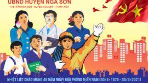UBND huyện Nga Sơn chào mừng ngày 30/4 & 1/5
