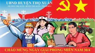 UBND huyện Thọ Xuân chào mừng ngày 30/4 và 1/5