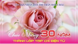UBND thị trấn Hợp Châu chúc mừng kỷ niệm 30 năm Tạp chí Điện tử