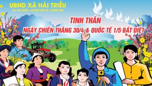 UBND xã Hải Triều chào mừng kỷ niệm ngày 30/4 & 1/5
