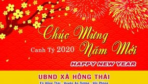 UBND xã Hồng Thái chúc mừng năm mới xuân Canh Tý năm 2020