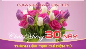 UBND xã Hồng Tiến chúc mừng 30 năm thành lập Tạp chí Điện tử