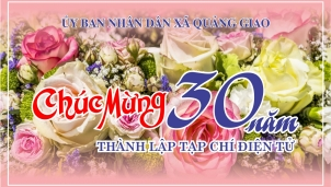 UBND xã Quảng Giao chúc mừng 30 năm hình thành Tạp chí Điện tử
