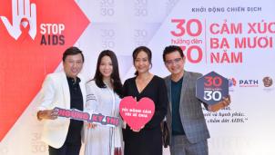Chiến dịch 'Cảm xúc 30 năm' nhân Ngày thế giới phòng chống AIDS (1-12)