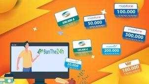 Mua thẻ điện thoại hay thẻ game online trên hệ thống banthe24h.vn
