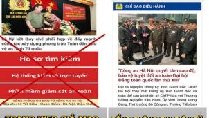 """Hiểm hoạ từ trang web giả mạo Công an Hà Nội - Hàng tỉ đồng """"bốc hơi"""""""