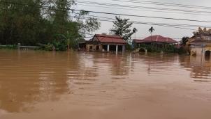Tại các xã Quảng Thọ, Quảng Phú (huyện Quảng Điền) vẫn còn bị ngập sâu đến 1m
