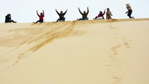 Trải nghiệm trượt cát ở Quảng Bình