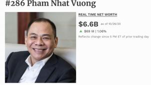 Việt Nam có thêm 2 người lọt vào câu lạc bộ tỉ phú USD