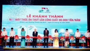 Việt Phương Hà Nam: Khánh thành nhà máy thức ăn thủy sản 80 000 tấn/năm