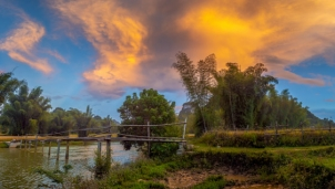 Cầu tre Trùng Khánh - Nét dung dị đời thường trong cảnh quan thiên nhiên tuyệt sắc