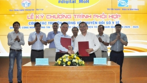 Lễ ký chương trình phối hợp truyền thông chuyển đổi số y tế