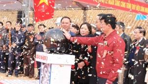 """LICOGI 13 khởi động Thủy điện Sông Nhiệm 3 """"chắp cánh"""" cho kinh tế Hà Giang"""