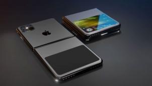 Điện thoại iPhone tương lai với màn hình gập và không cổng sạc