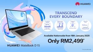 Laptop Huawei MateBook D 15: Tận hưởng và chia sẻ