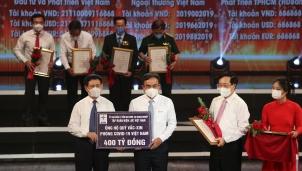 Tập đoàn Điện lực Việt Nam đã chuyển 400 tỷ đồng đến Quỹ vắc-xin phòng, chống COVID-19