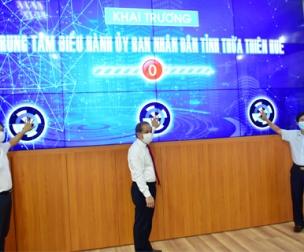 Trung tâm điều hành UBND tỉnh Thừa Thiên Huế số hóa chính thức ra mắt
