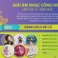 Giải Âm nhạc Cống hiến 2020 sẽ bầu chọn online thay vì trực tiếp