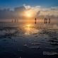 Về Diêm Điền ngắm bình minh, xem ngư dân đẩy xiệp trên biển Quang Lang