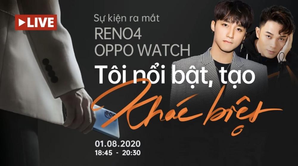 Ra mắt Reno4 và Oppo Watch trực tuyến