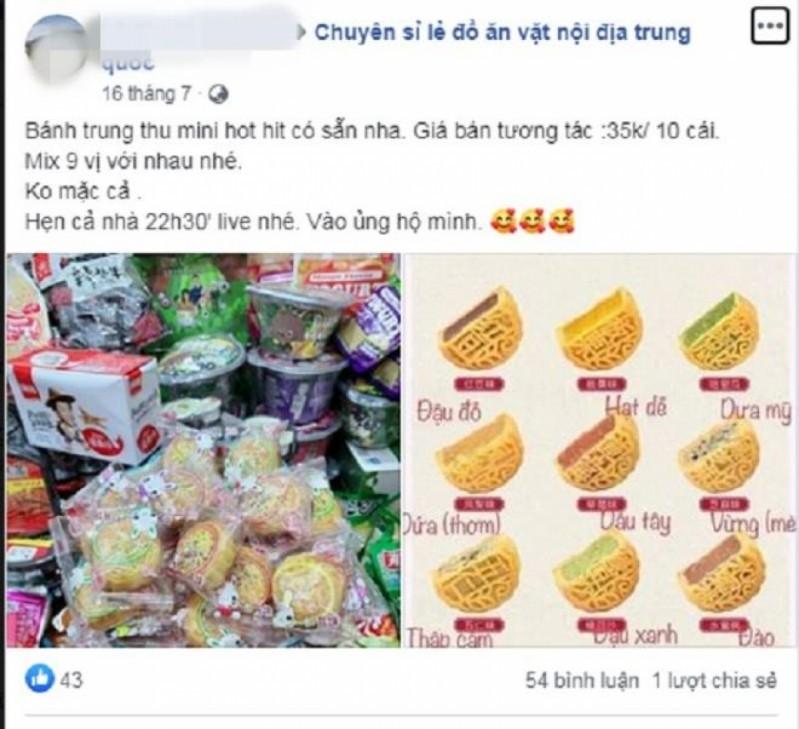 """Bánh Trung Thu trên """"chợ mạng"""" luôn tạo được sự hấp dẫn với người tiêu dùng bằng hình ảnh bắt mắt cùng với mức giá rẻ """"giật mình"""""""