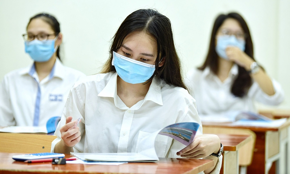 Sở GD&ĐT Hà Nội yêu cầu các điểm thi phải tuân thủ thông điệp 5K của Bộ Y tế