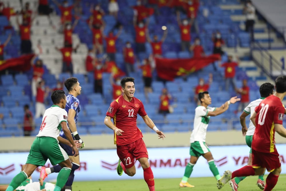 Pha ghi bàn của tiền đạo Tiến Linh đã phá thế bế tắc giúp đội hình đội tuyển Việt Nam được vận hành uỷ chuyển hơn