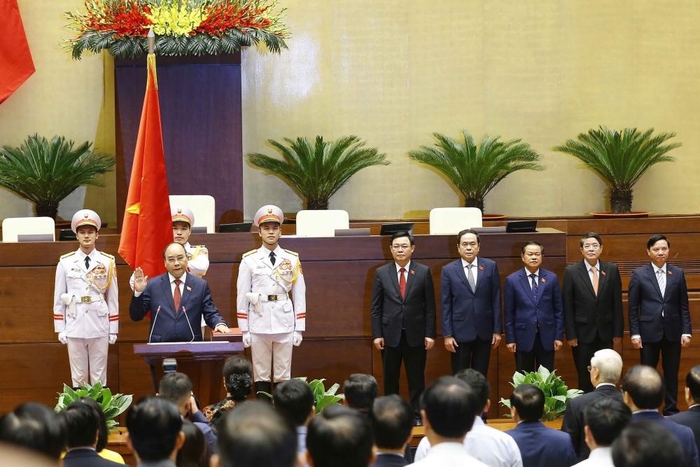 Toàn cảnh Lê Tuyên thệ nhậm chức của Chủ tịch nước Nguyễn Xuân Phúc