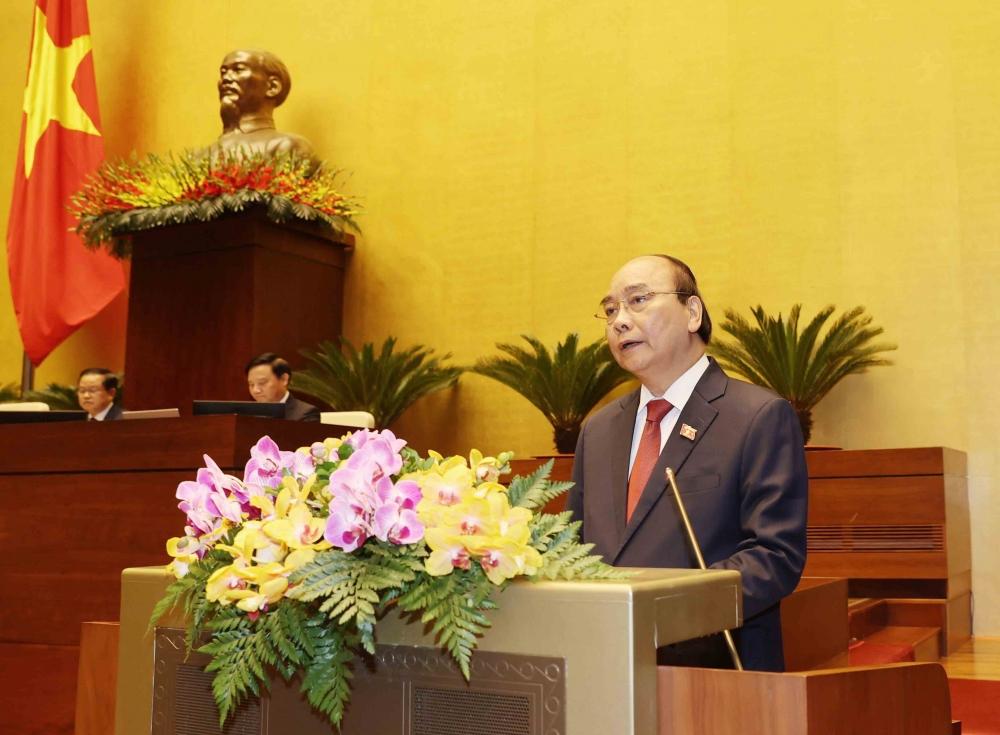 Chủ tịch nước Nguyễn Xuân Phúc phát biểu sau Lễ Tuyên thệ nhậm chức