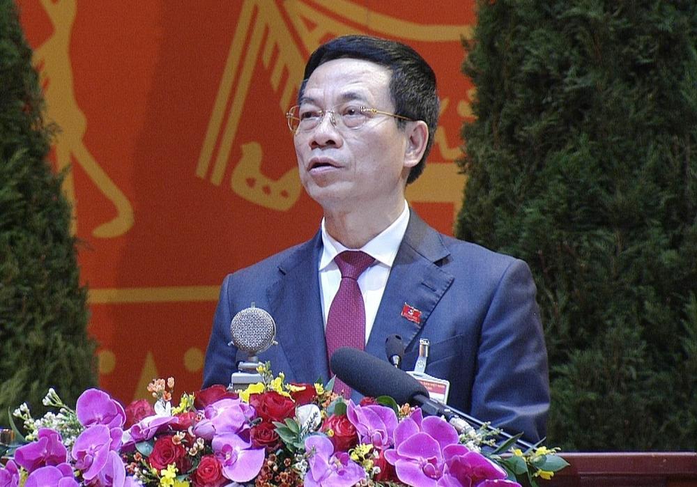 Bộ trưởng TT&TT Nguyễn Mạnh Hùng tại Đại hội XIII của Đảng
