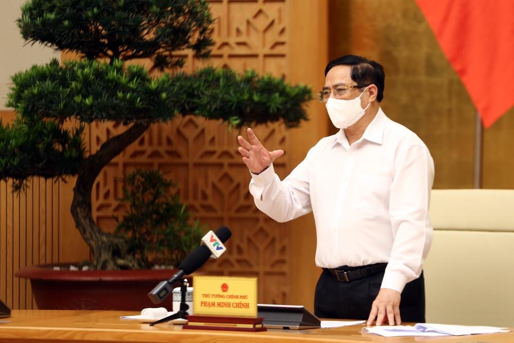 Thủ tướng Phạm Minh Chính chỉ đạo tại phiên họp thường trực Chính phủ về phòng, chống COVID-19
