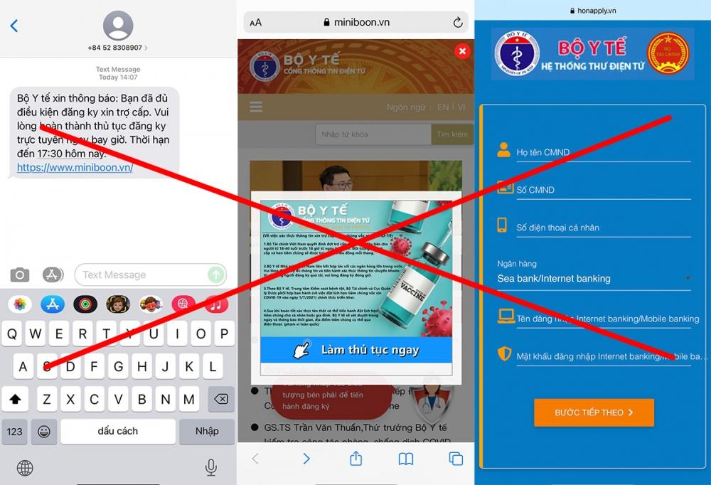 Những hình ảnh mạo danh Bộ Y tế được sử dụng trên các website này dễ gây sự nhầm lẫn đối với người dùng internet Việt Nam