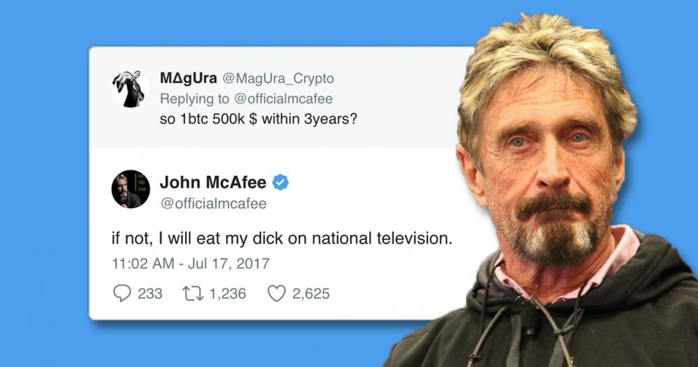 Những dòng tweet của John MacAfee đã mang lại khoản lợi nhuận lên đến 13 triệu USD từ kinh doanh tiền ảo