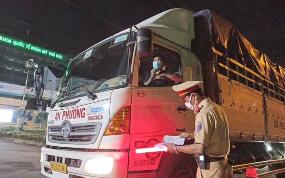 Mã QR code sẽ giảm thiểu ách tắc của các xe vận tải hàng hoá phục vụ chống dịch