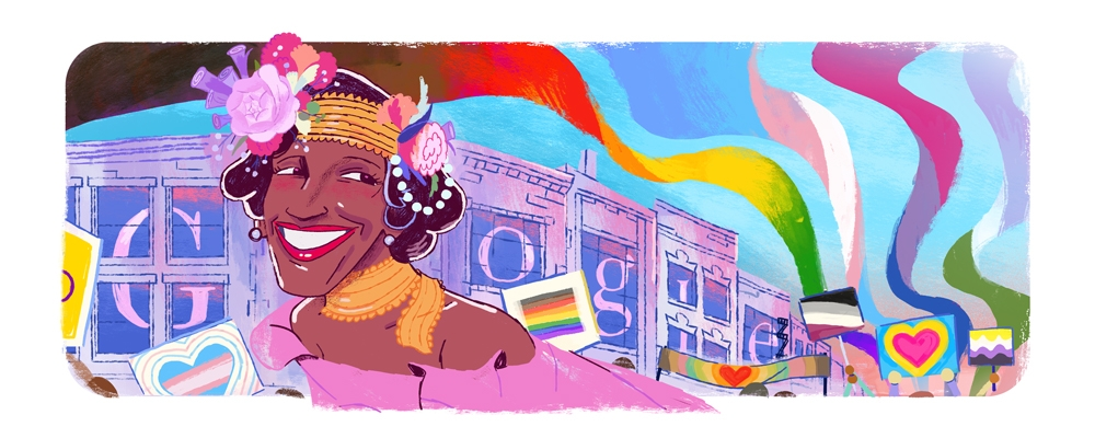 Marsha P Johnson: Google doodles