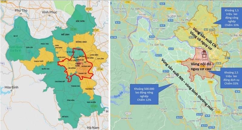 """Phân khu vực để phục vụ việc tăng cường các biện pháp phòng, chống dịch COVID-19 đối với """"vùng đỏ"""""""