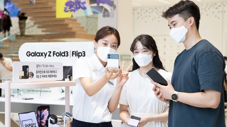 Các sản phẩm thuộc series Galaxy Z mới được Samsung giới thiệu và chuẩn bị lên kệ đã thúc đẩy số lượng thuê bao 5G tăng trưởng mạnh trong năm 2021 tại Hàn Quốc