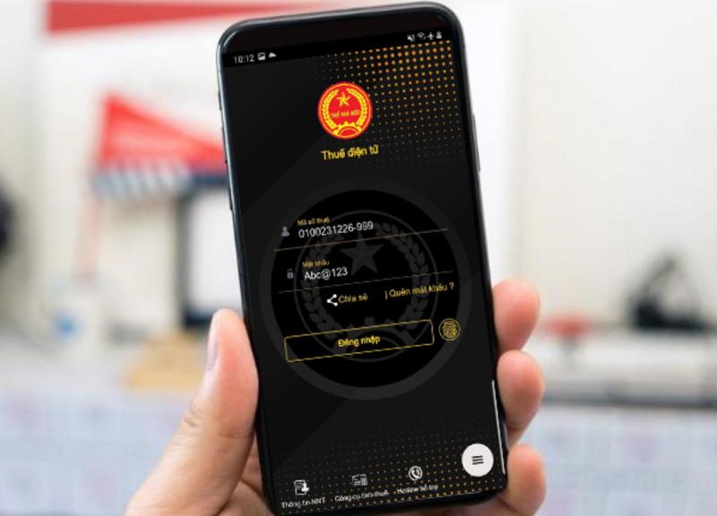 Số hoá ngành thuế được thu gọn trong ứng dụng Etax-mobile trên nền tảng của điện thoại thông minh