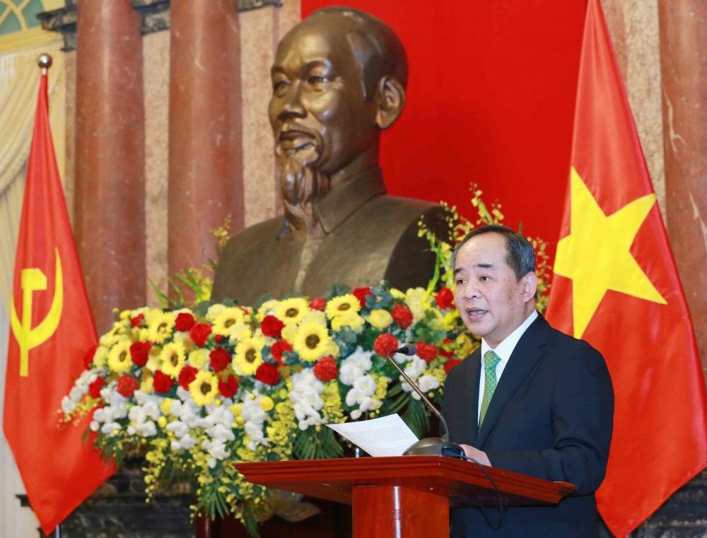 Tân Chủ nhiệm Văn phòng Chủ tịch nước Lê Khánh Hải phát biểu nhận nhiệm vụ
