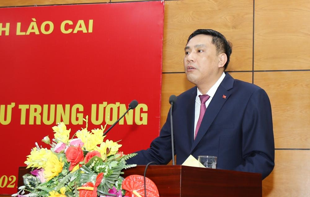 Tân Phó Bí thư Tỉnh uỷ Lào Cai Hoàng Giang khẳng định quyết tâm đóng góp vào sự phát triển chung của Tỉnh