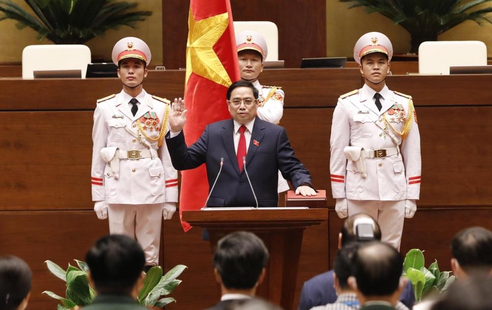 Tân Thủ tướng Phạm Minh Chính trang trọng cử hành nghi thức tuyên thệ nhậm chức
