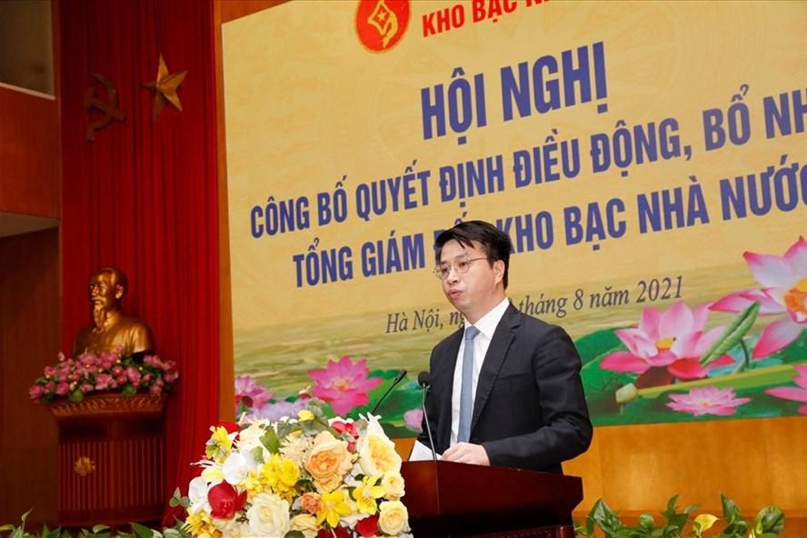 Phát biểu nhận nhiệm vụ của tân Tổng Giám đốc Kho bạc Nhà nước Trần Quân